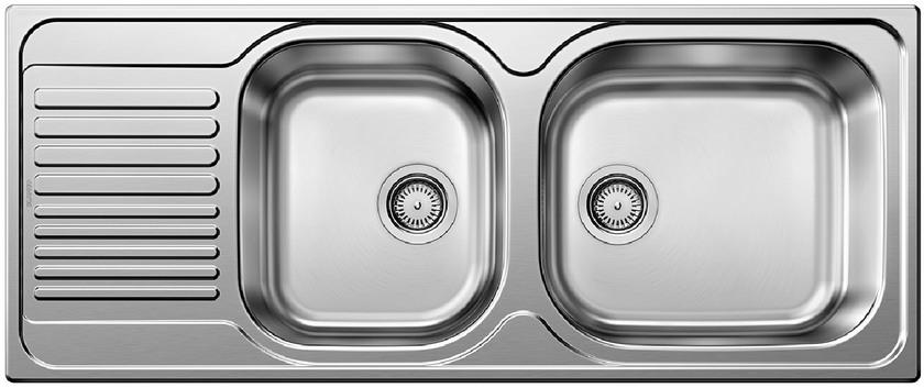 Evier en inox Blanco Tipo 511927 couleur inox 1210x500 avec 2 cuves 511927