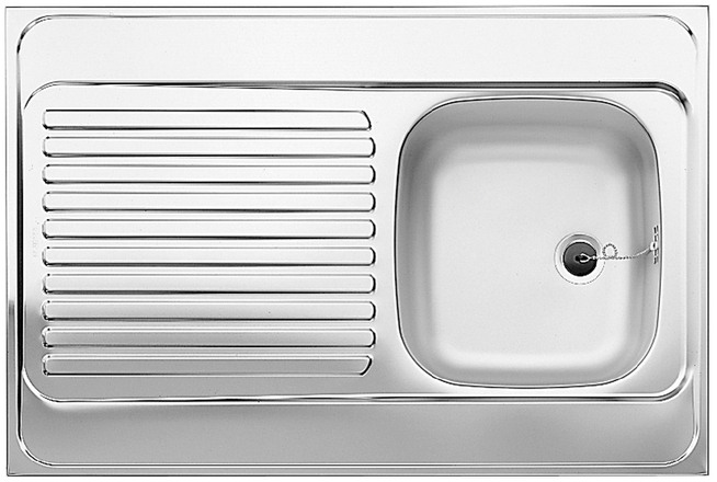 Evier en inox Blanco Blanco 510501 couleur inox 900x600 avec 1 cuve 510501