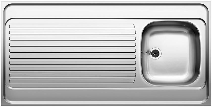 Evier en inox Blanco R-es 520285 couleur inox 1200x600 avec 1 cuve 520285