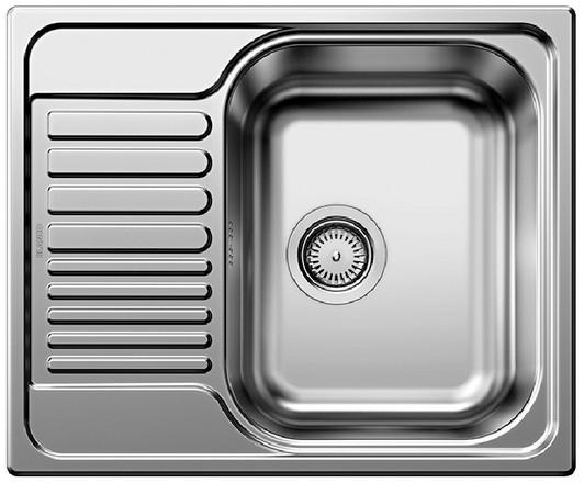 Evier en inox Blanco Tipo 516524 couleur inox 605x500 avec 1 cuve 516524