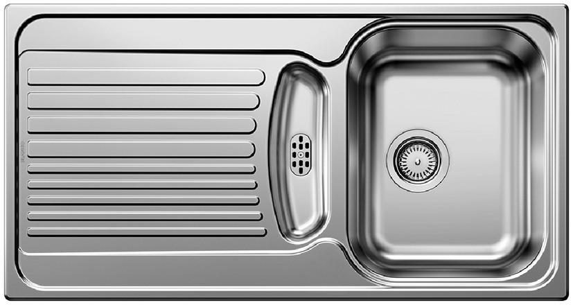 Evier en inox Blanco Tipo 511397 couleur inox 950x500 avec 1 cuve 511397