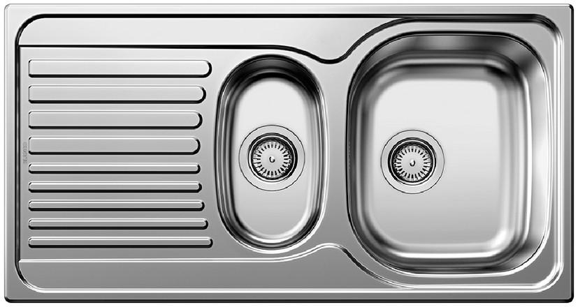 Evier en inox Blanco Tipo 512303 couleur inox 950x500 avec 1 cuve 512303