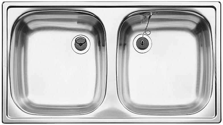 Evier en inox Blanco Top 501073 couleur inox 780x435 avec 2 cuves 501073