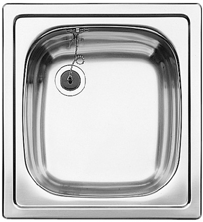 Evier en inox Blanco Top 501065 couleur inox 435x470 avec 1 cuve 501065