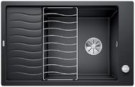 Evier en silgranit® puradur® Blanco Elon 524834 couleur anthracite 780x500 avec 1 cuve vidage manuel ELON XL 6 S