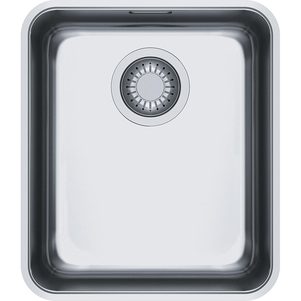 Evier en inox Franke ATON 013851 couleur inox 370x430 avec 1 cuve vidage automatique ANX110-34