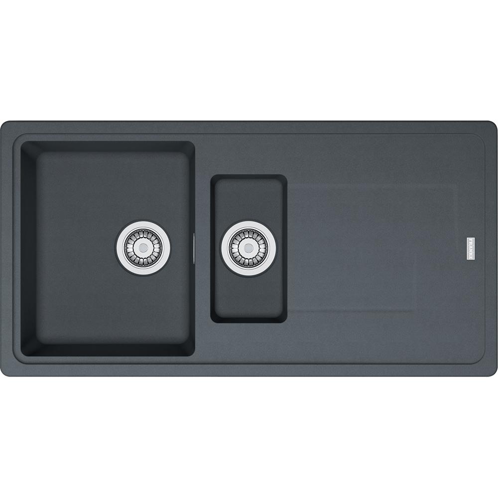 Evier en fradura Franke GEMINI 022563 couleur anthracite 970x500 avec 1 et cuve vidage automatique égouttoir réversible GMD651