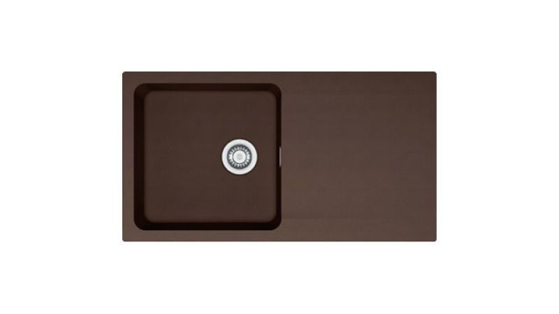 Evier en tectonite® Franke ORION 009120 couleur tectonite® chocolat 940x510 avec 1 cuve égouttoir réversible OID611-94