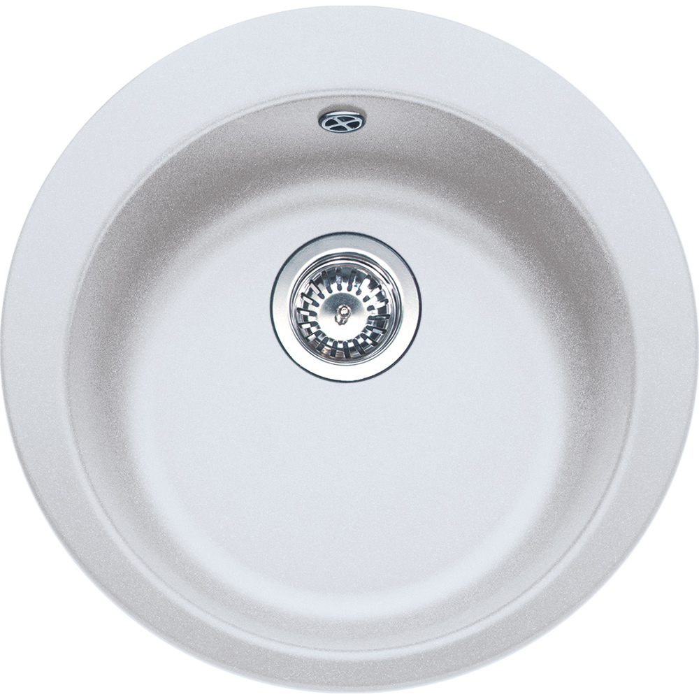Evier en fradura Franke Single 529643 couleur blanc artic avec 1 cuve vidage automatique Single1