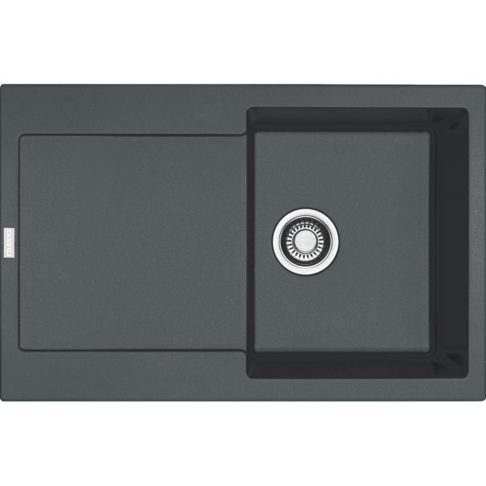 Evier en céramique Franke MARIS 094587 couleur graphite 780x500 avec 1 cuve vidage automatique égouttoir réversible MRG611-78_MRK611-78