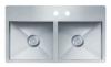 Evier en inox Franke PLANAR 009779 810x510 avec 2 cuves vidage manuel