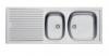 Evier en inox Franke Eurostar 017661 avec 2 cuves égouttoir réversible