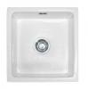 Evier en céramique Franke GALASSIA 075760 couleur blanc uni 450x475 avec 1 cuve vidage automatique