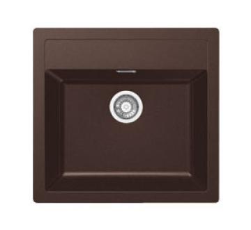 Evier en tectonite ® Franke SIRIUS 689910 finition tectonite® chocolat 560x530 avec 1 cuve vidage automatique SIRIUS SID 510