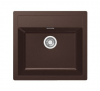 Evier en tectonite ® Franke SIRIUS 689910 finition tectonite® chocolat 560x530 avec 1 cuve vidage automatique