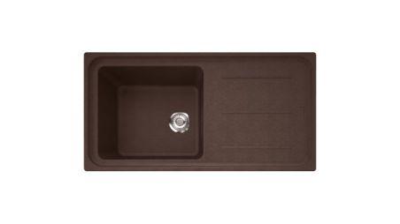 Evier Franke Impact Fragranit IMG 611-97 Chocolat  réversible 1 cuve vidage manuel IMG611