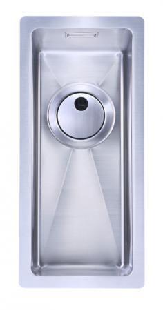 Evier en inox Home-inox Sous Plans HI-16x40R10-VIDMAN-SP-BONDSTD 160x400 avec 1 cuve vidage automatique HI 16x40 R10 SP