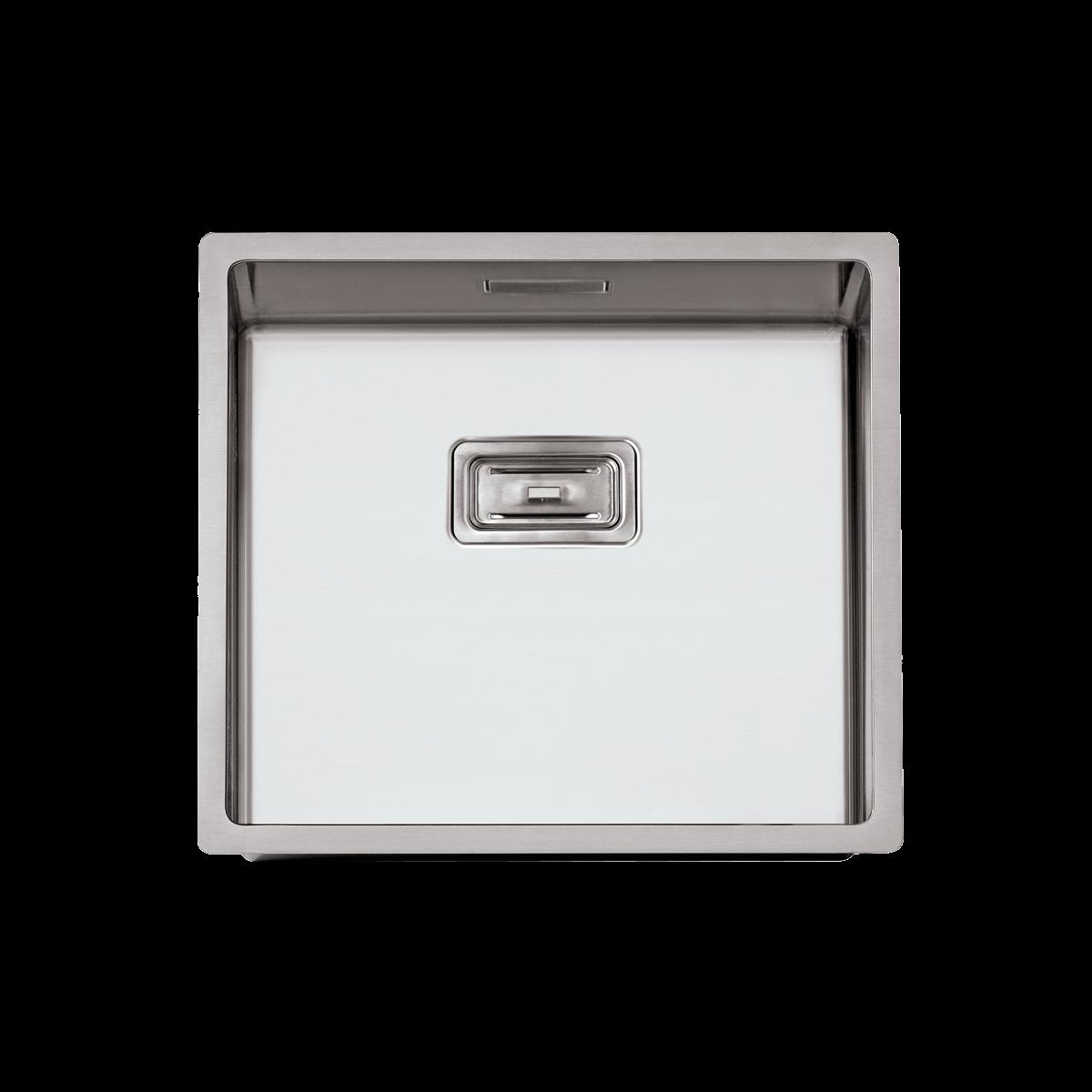 Evier en inox Rodi Box Lux Box Lux 45 BRO finition satiné couleur inox 450x400 avec 1 cuve vidage manuel Box Lux 45