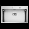 Evier en inox Rodi Box Lux Box Lux 76 BRO finition satiné couleur inox 765x510 avec 1 cuve vidage manuel