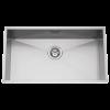 Evier en inox Rodi Box Line Box Line 74 AF finition satin couleur inox 700x400 avec 1 cuve vidage manuel
