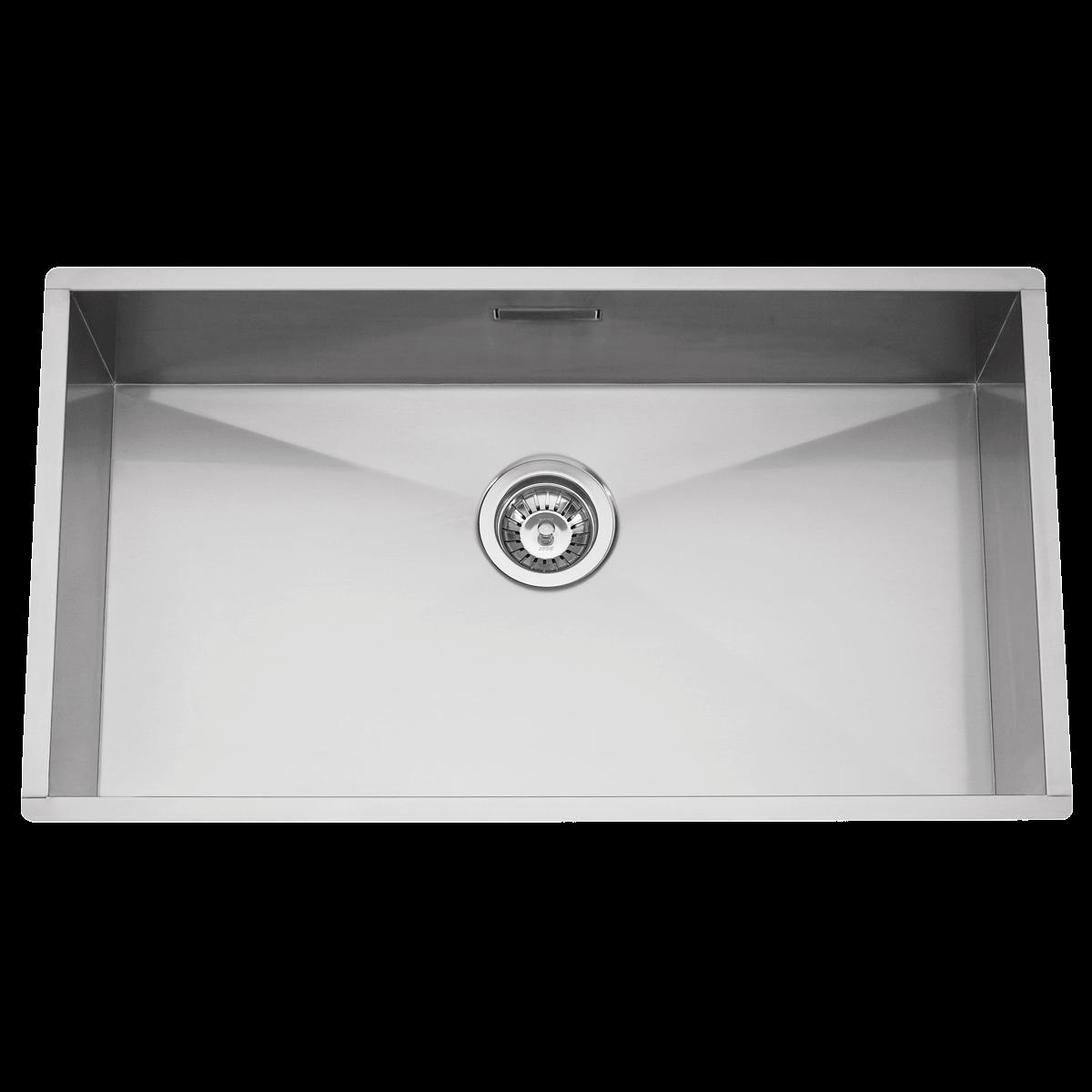 Evier en inox Rodi Box Line Box Line 74 SP finition satin couleur inox 700x400 avec 1 cuve vidage manuel Box Line 74