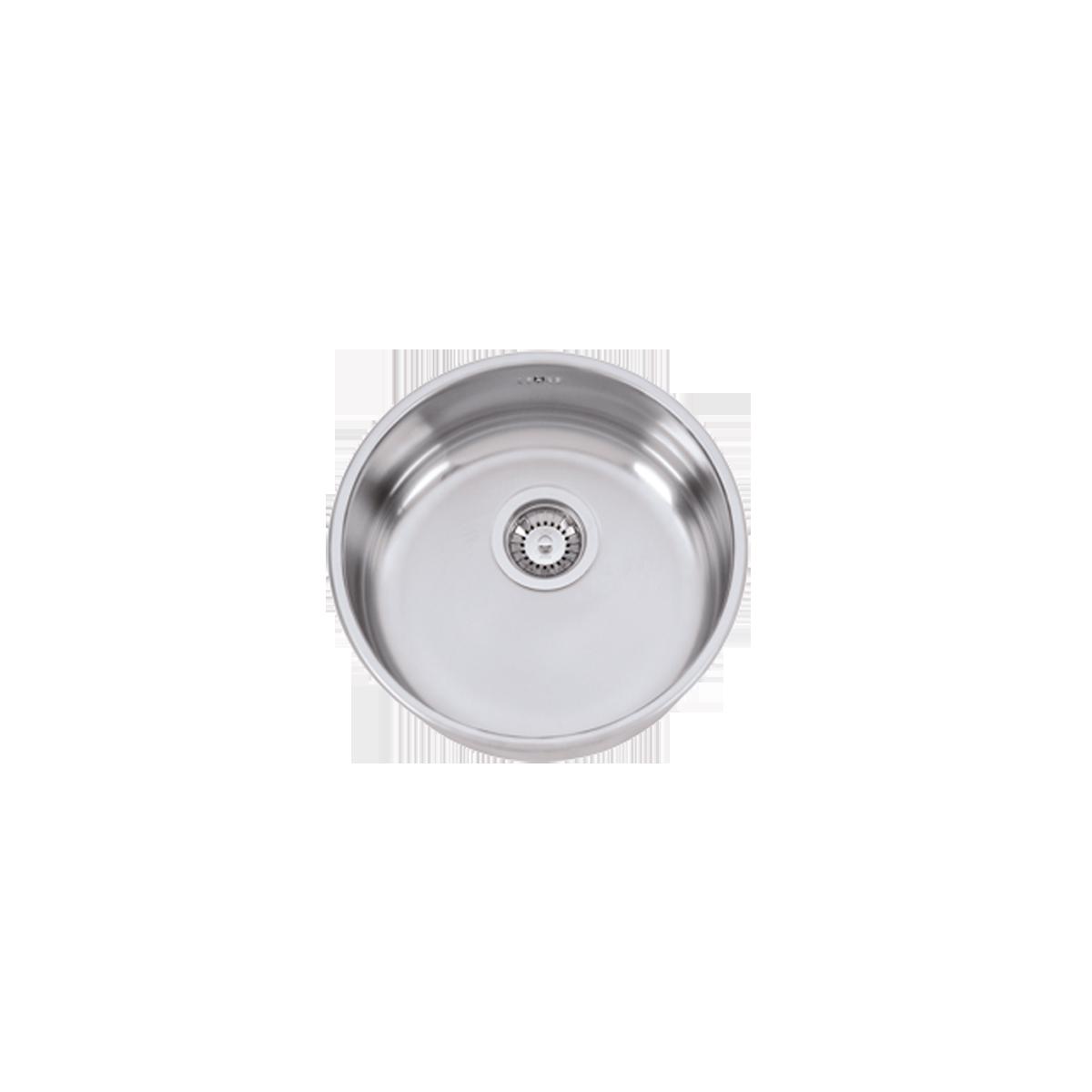 Evier en inox Rodi Single Bowls Pio Mithus finition poli couleur inox avec 1 cuve vidage manuel Pio Mithus