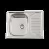 Evier en inox Rodi Okio Line Okio Line 65 Flat M finition mat couleur inox 650x500 avec 1 cuve égouttoir réversible