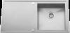Evier Rodi Box Line 105 en inox satiné 1000x500 1 Bac Avec égouttoir à gauche et Vidage automatique